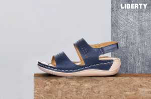Skip to the end of the images gallery Skip to the beginning of the images gallery Senorita Women's Blue Comfort Sandal