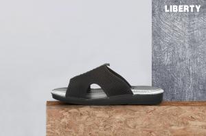 A-Ha Men's Black Casual Slippers